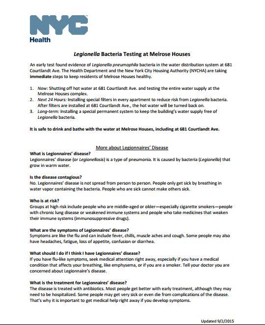 Legionella_Melrose Houses_FAQ_09012015