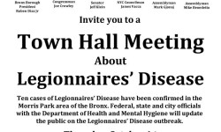 Town Hall Meeting About Legionnaires' Disease – October 1st at Maestro's Caterer's
