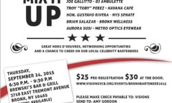 "VISIONS Bronx ""Mix It Up"" Celebrity Bartending Fundraiser"