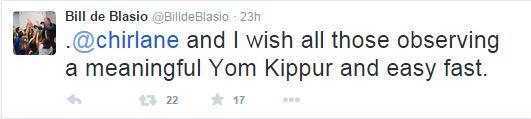 Yom Kippur_Mayor de Blasio