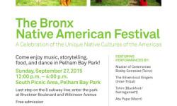 The Bronx Native American Festival 9/27/15 12-4pm