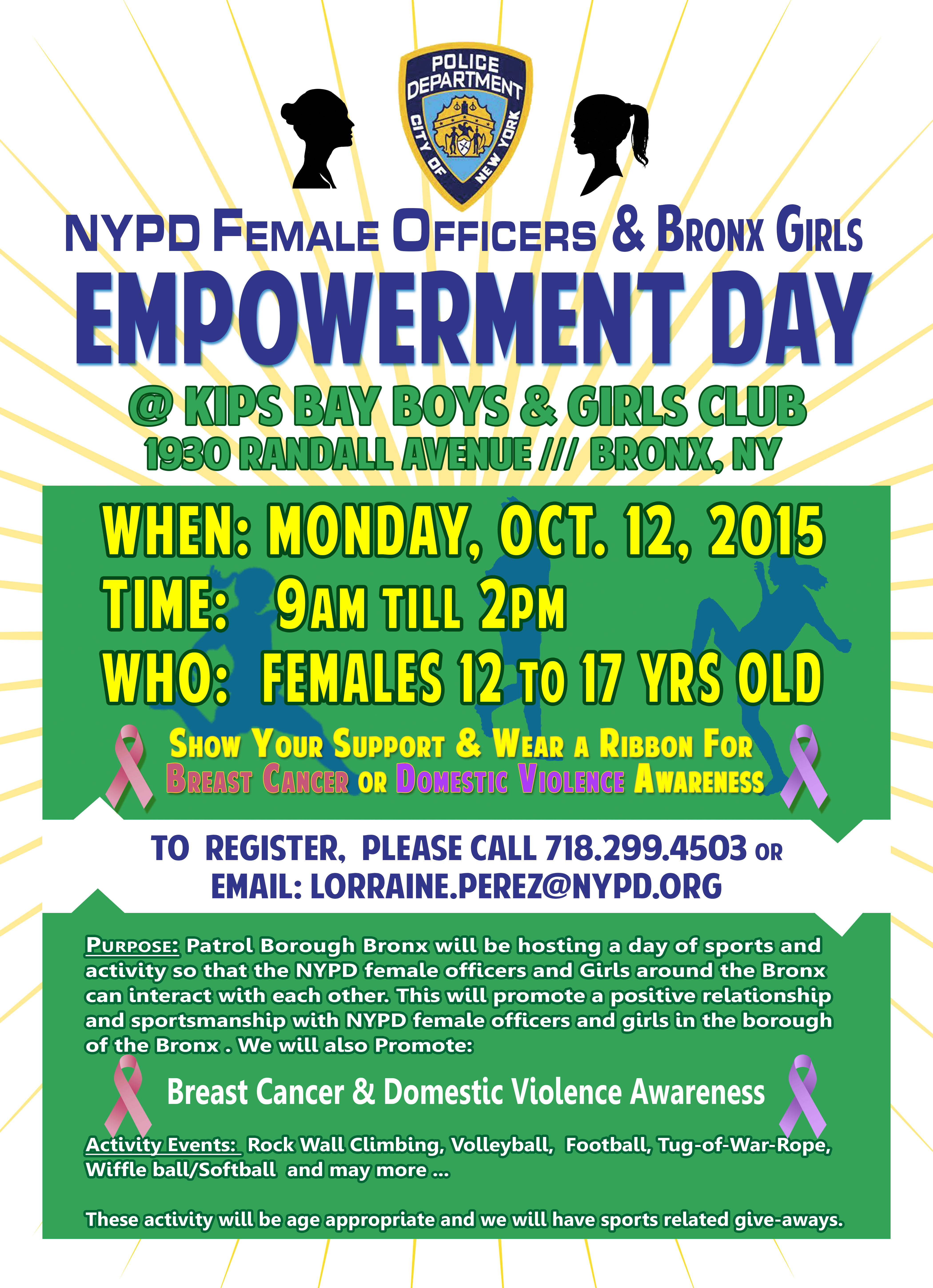 NYPD Female Officers and Bronx Girls Empowerment Day