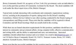 Bronx Jobs: Community Board 10