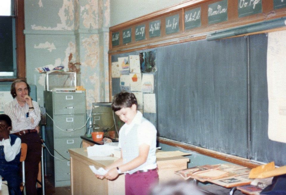 Mario Cilento as a student at PS 108, Morris Park in 1977