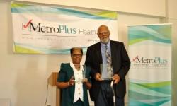 Seniors receiving Mother-Love, Father-Love Award