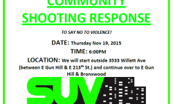 Shooting Response! Thurs 11/19 @ 6pm 3533 Willet Ave Bronx, NY