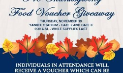 New York Yankees Thanksgiving Voucher Giveaway 11/19/15