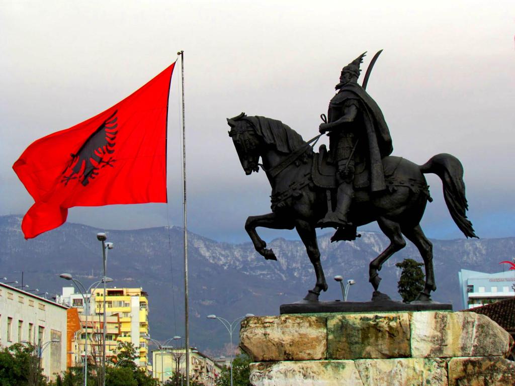 Skanderbeg's statue.