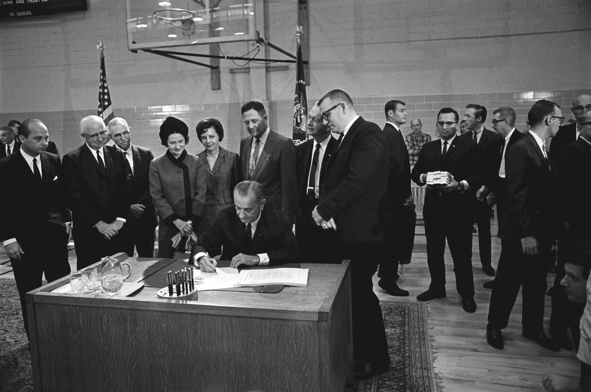 President Johnson Signing the Higher Education Act into Law