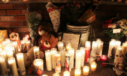 Community Mourns for Halloween Crash Victims at Candlelight Vigil