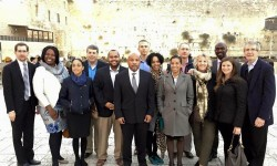 Bronx legislators and others in Israel with With Jeff Leb, Latrice Monique Walker, Latoya Joyner, Victor M. Pichardo, Speaker Carl E. Heastie, Isa Puello, Lanessa Nes Owens, Michael Blake and Rabbi Michael Miller