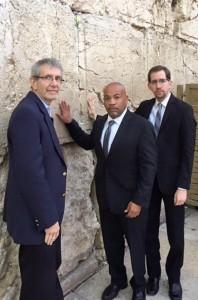 Speaker Carl Heastie, Rabbi Michael Miller and Jeff leb