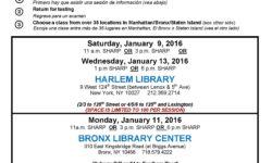 Free English and Adult Literacy Classes at the Library – WINTER 2016