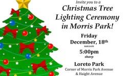 Morris Park Tree Lighting Ceremony – Friday the 18th