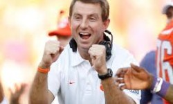 "Dabo Swinney of Clemson University Named 2015 Paul ""Bear"" Bryant Coach of the Year"