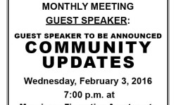 Van Nest Neighborhood Alliance – Feb Monthly Meeting – Wed Feb 3, 2016 – 7:00 pm – Monsignor Fiorentino Apt