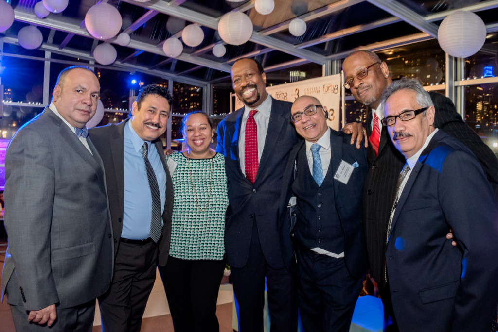 Terrence Clark, President and CEO of the New York New Jersey MSDC Council (Center) surrounded by his many friends,