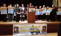 "Senators Klein & Savino Rally with 1199 SEIU to ""Fight For $15"" for Caretakers"