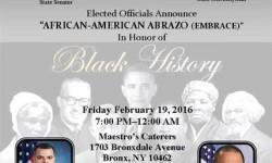 Elected Officials to celebrate the 4th Annual African American Abrazo  in New York