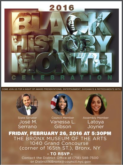 CM Gibson Black History Month 2016
