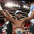 Crawford victory. Credit: Mikey Williams, Top Rank