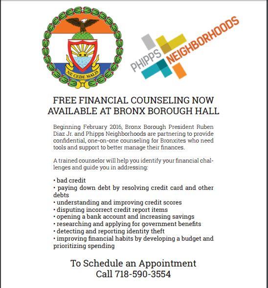 Free Counseling_Bronx Boro Hall 2016