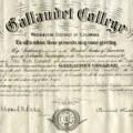 Gallaudet College Diploma
