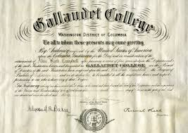 Gallaudet College Diploma