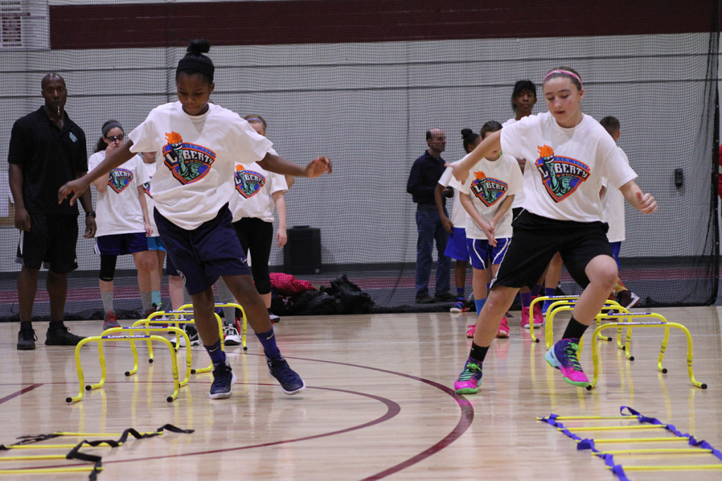 Youth participated in agility drills, shooting practice, and ball handling skills among other activities.