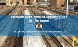 BRONX BP DIAZ RELEASES REPORT PROPOSING PLATFORM DEVELOPMENT AT CONCOURSE YARD