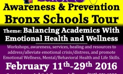 SISFI Suicide Awareness and Prevention Bronx School Tour, Feb. 11 – 29