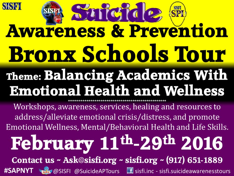 SISFI Suicide Awareness Tour Flyer