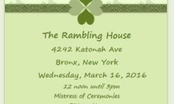 Bronx Irish Heritage Month 2016