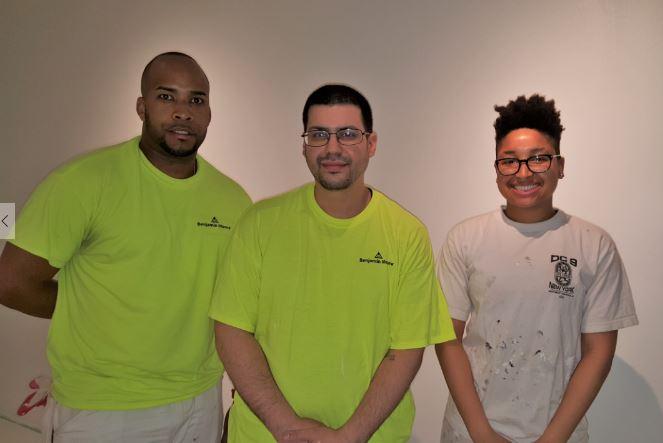 DC9, IUPAT Apprentice painters (left to right) Arias, Ildifonso and Lezlie Harris.