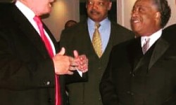 Current and former candidates for POTUS:  Donald J. Trump, Rev. Jesse L. Jackson, Rev. Al Sharpton.