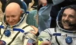 NASA astronaut and Expedition 46 Commander Scott Kelly and his Russian counterpart Mikhail Kornienko returned to Earth Tuesday after a historic 340-day mission aboard the International Space Station.