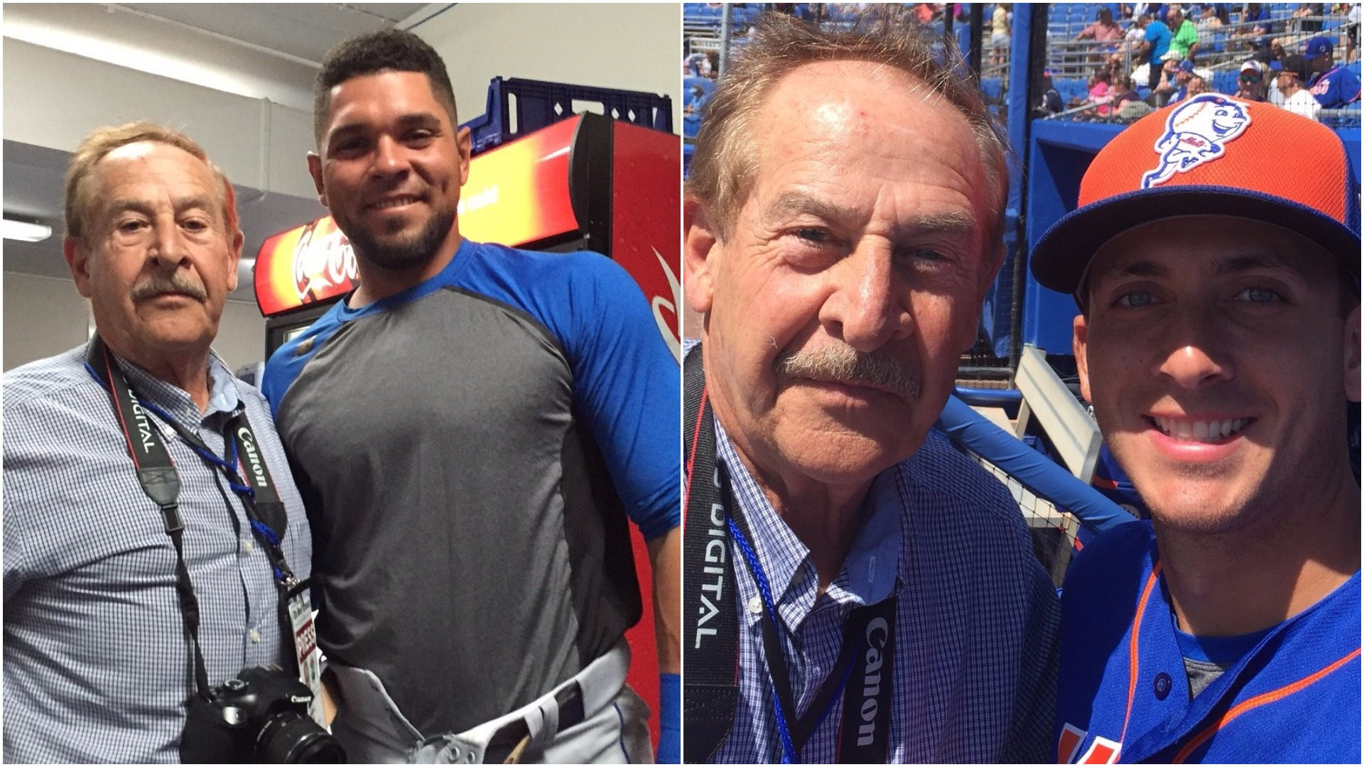 (Left) Sal Conforto (Publisher, Bronx Chronicle) and Johnny Monell. (Right) Conforto and TJ Rivera.