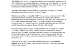 Hunts Point Community Demands that NYC Economic Development Corp Accepts the Community Driven Plan to Redevelop Spofford