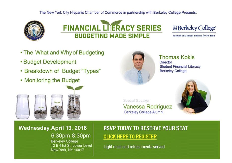 NYHCC Financial Literacy Month Workshop