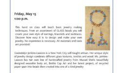 Jewelry Making program at Pelham Bay Library