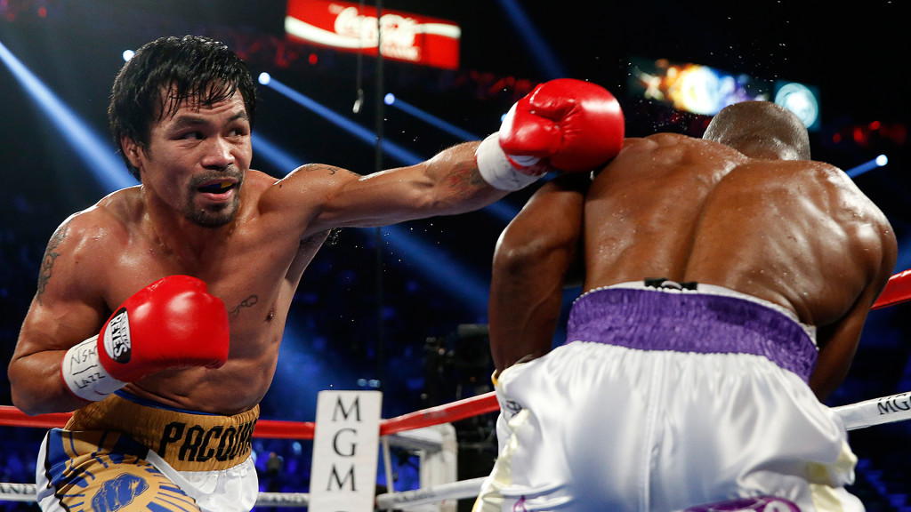 Manny Pacquiao vs Timothy Bradley. Photo credit: HBO Boxing