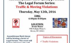 Assemblyman Mark Gjonaj's Traffic & Moving Violations Forum 5/12/16