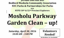Mosholu Parkway Garden Clean-up 4/30/16