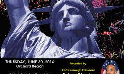 BP Diaz & Senator Klein Host 'NY Salutes America' Fireworks Extravaganza & Eating Contest