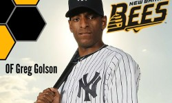 Greg Golson, OF, New Britain Bees (ALPB)