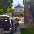 New York FBI agents  removing boxes of evidence from the Morris Park residence of Norman Seabrook, who was arrested this morning.  [via www.newyorkcityinformer.com]