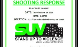 """COMMUNITY RALLY""""***SHOOTING RESPONSE ***""""STAND UP TO VIOLENCE THIS THURSDAY, JUNE 23rd, 6:00 PM"""