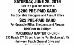 Gun Buyback Program – June 25, 2016