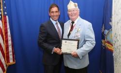 Senator Jeffrey D. Klein Recognizes War Vets With Distinctive License Plates