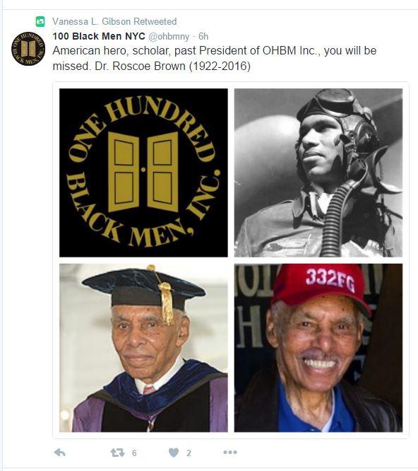 Roscoe Brown_100 Black Men-Twitter